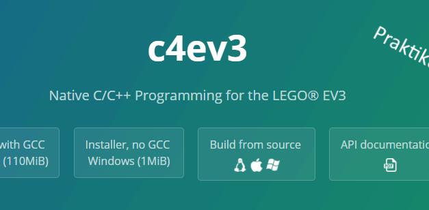 c4ev3: Auftakt zum Praktikum