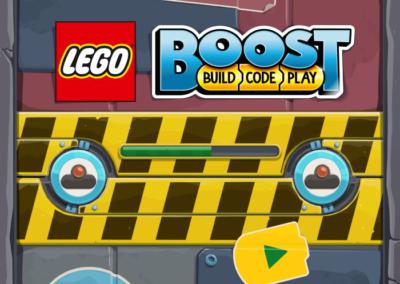 LEGO Boost Ladebildschirm iPad App.