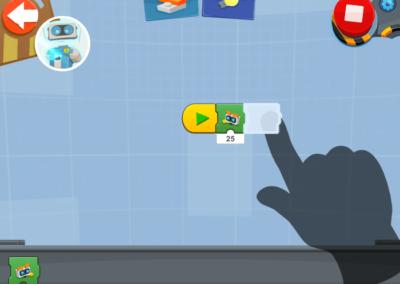 LEGO Boost Programmiertutorial iPad App.