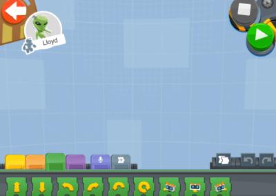 LEGO Boost Programmieroberfläche ohne Programm.