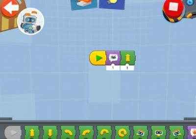 LEGO Boost Programmieroberfläche mit Programm