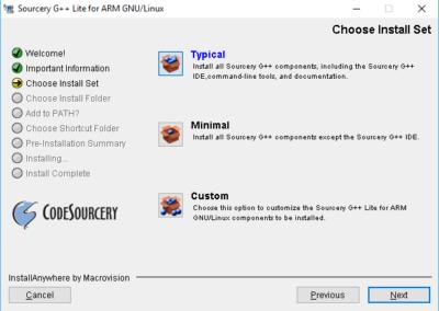 Typische Installationsart im Sourcery Installationsprogramm.