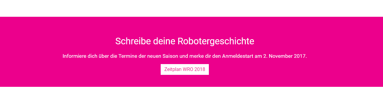 Die aktuelle Saison der WRO 2018
