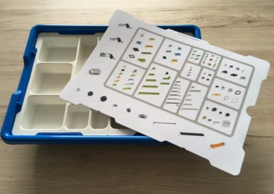 Test LEGO® Education WeDo 2.0 Sortiersystem und Teileübersicht.