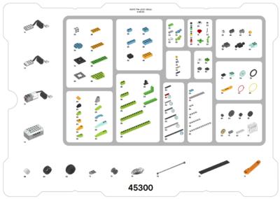 Test LEGO® Education WeDo 2.0 Teileübersicht.
