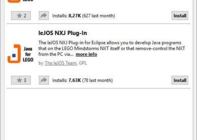 LeJOS Installation Eclipse-Plugin 1.