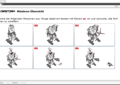 Missionen in der Windows-Anwendung zum LEGO Mindstorms EV3