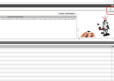 Projekteigenschaften in der Windows-Anwendung zum LEGO Mindstorms EV3