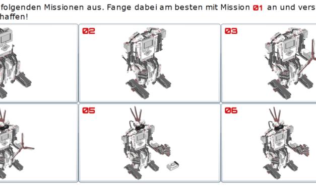 Zugriff auf EV3-Missionen in den LEGO®-Programmen