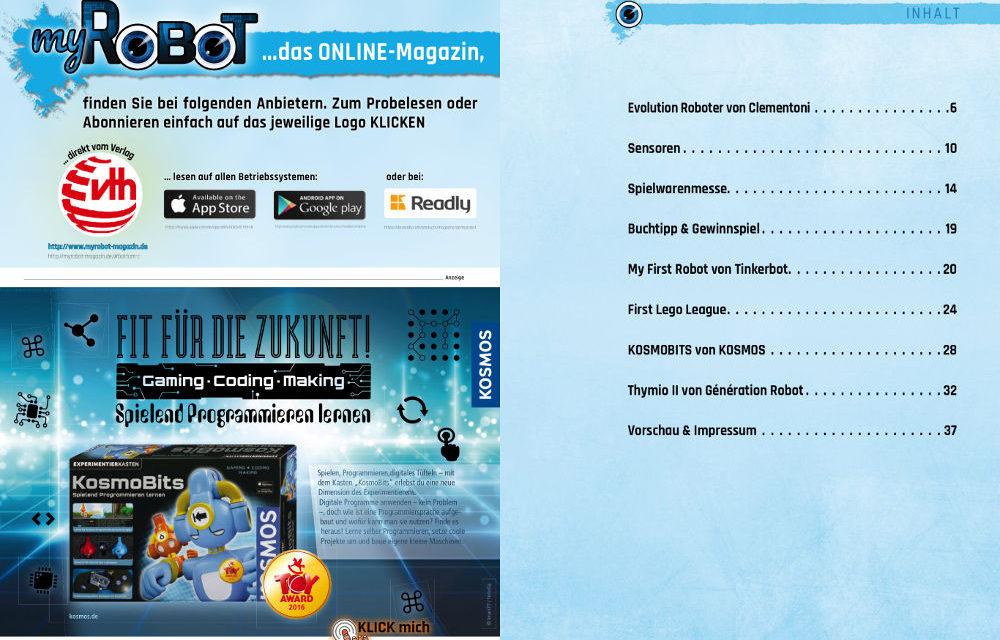 Gelesen: myRobot – Das Technikmagazin für junge Leser und Eltern