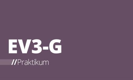 EV3-G – Auftakt zum Praktikum