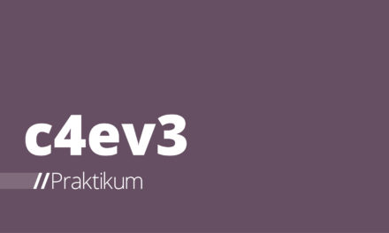 c4ev3 – Auftakt zum Praktikum