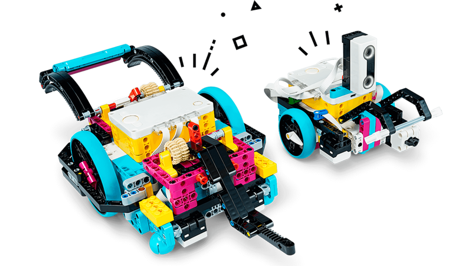 LEGO education_ SPIKE prime_45680_Erzänzung_competition_ready_assemblinganadvanceddrivingbase_08_withdoodles