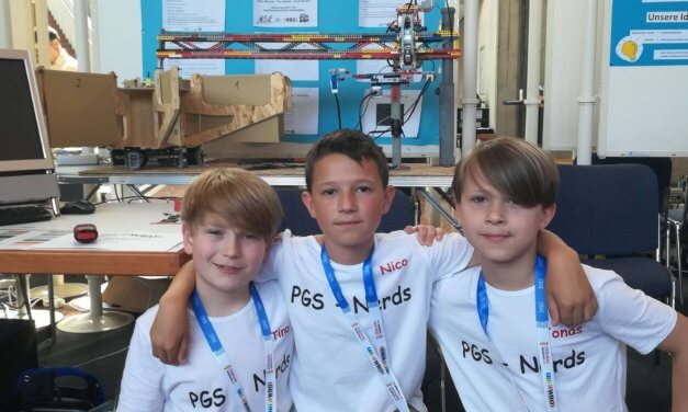 PGS-Nerds beim WRO-Deutschlandfinale