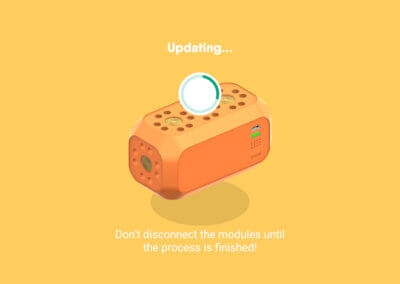 Update-Prozess der Firmware eines Bauteils