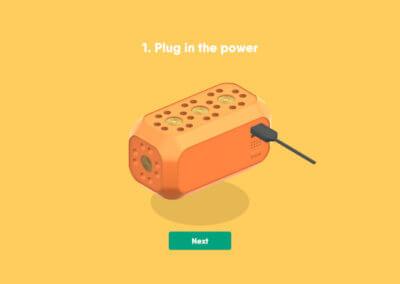 Anweisung zum Anschließen des USB-Kabels