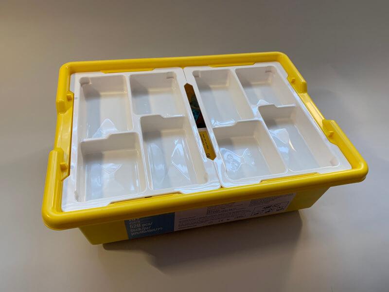 Die Einsätze in der Kunststoffbox