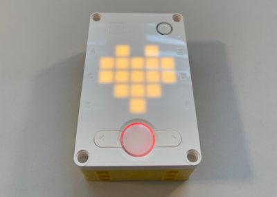 Die LED-Matrix auf der Oberseite des Smart-Hub