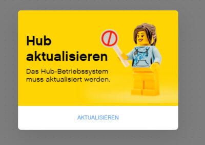 Ohne Update lässt sich mit dem Hub nicht weiterarbeiten.