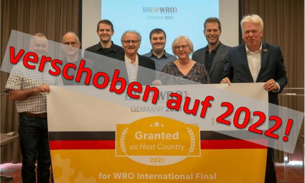 WRO-Weltfinale in Dortmund findet erst 2022 statt