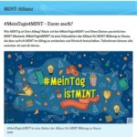 Noch schnell mitmachen bei #MeinTagistMINT