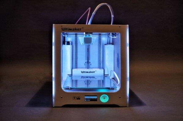 Einer unserer 3D-Drucker: Der Ultimaker 3