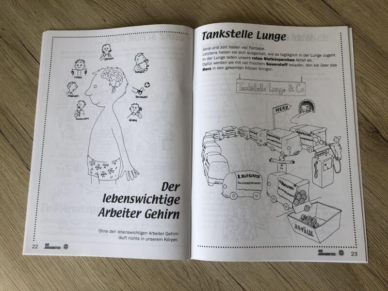 Noch ein Blick in das Arbeitsbuch der Johanniter