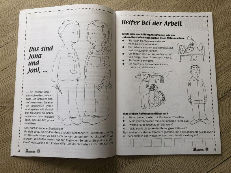Ein Blick in das Arbeitsbuch der Johanniter