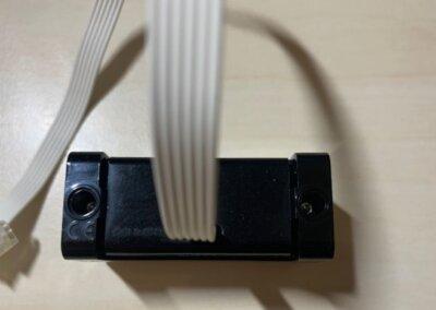 Der Ultraschallsensor des SPIKE von hinten